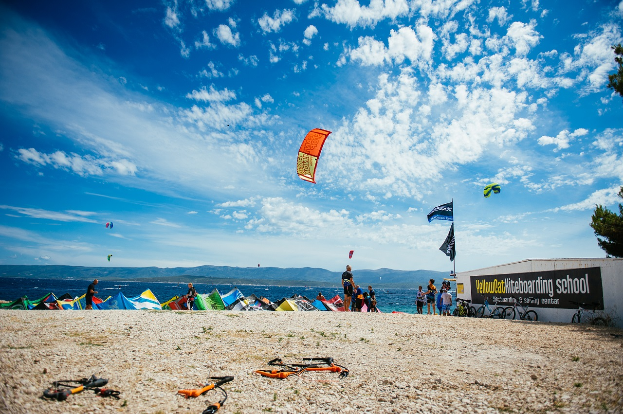 Kitesurf start